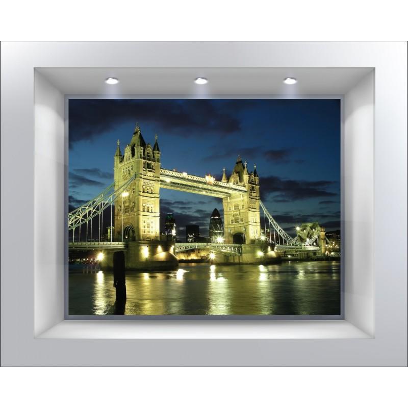 stickers muraux d co trompe l 39 oeil londres london art d co stickers. Black Bedroom Furniture Sets. Home Design Ideas