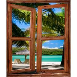 Stickers Fenêtre déco Les Tropiques