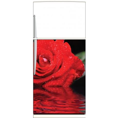 Sticker frigo Rose - ou sticker magnet frigo