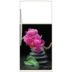 Sticker frigo Orchidée - ou sticker magnet frigo