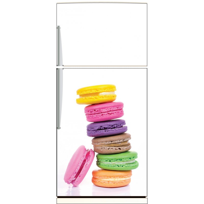 sticker frigo macarons ou sticker magnet frigo art d co stickers. Black Bedroom Furniture Sets. Home Design Ideas