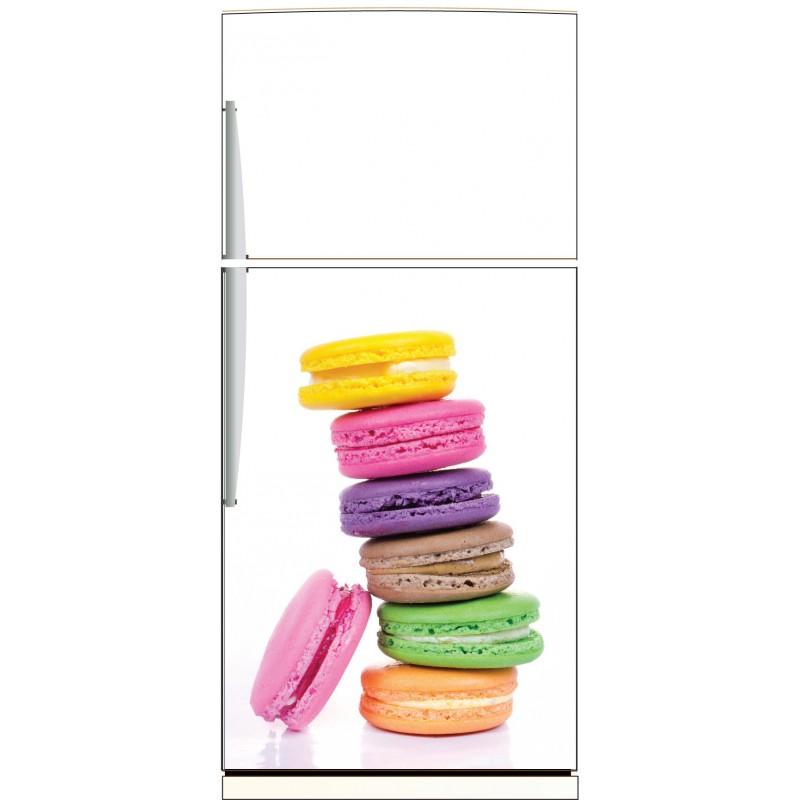 sticker frigo macarons ou sticker magnet frigo art d co stickers. Black Bedroom Furniture Sets. Home Design Ideas