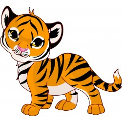 Sticker enfant Tigre