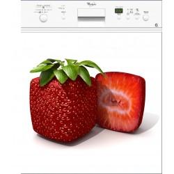 Sticker Lave Vaisselle Fraise Carré