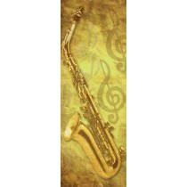 Papier peint porte déco - saxophone