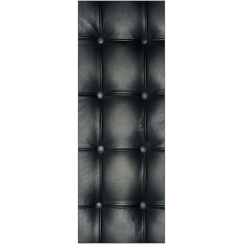 Papier peint porte d co capitonn e noir art d co stickers for Papier peint pour porte