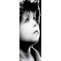Papier peint porte déco - portrait enfant