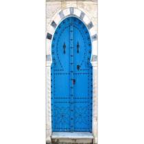 Papier peint porte déco - porte orientale bleu