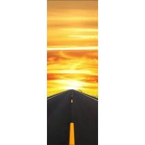 Papier peint porte déco - sur la route