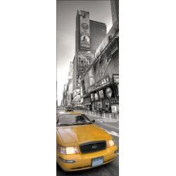 Papier peint porte déco - taxi New York