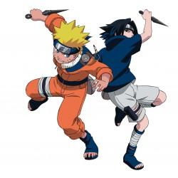 sticker Autocollant enfant Manga Naruto et Sasuke