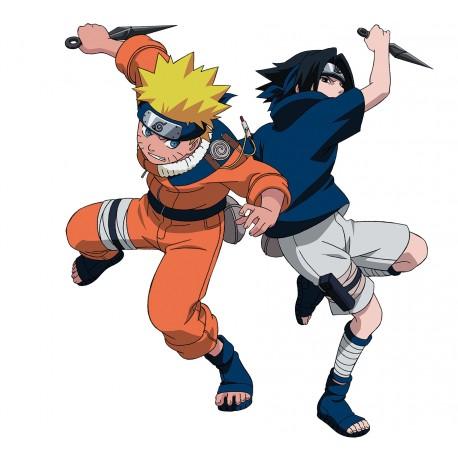 sticker Autocollant Naruto et sasuke