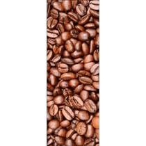 Papier peint porte déco - grain de café