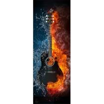 Papier peint porte déco - guitare