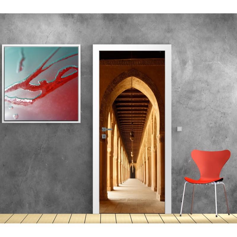 Papier peint porte d co voutes art d co stickers - Papier peint porte pour ...