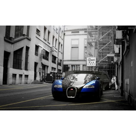 Stickers ou Affiche poster voiture Bugatti veyron