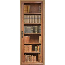 Papier peint porte déco - bibliotheque