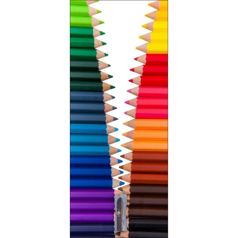 sticker frigo d co cuisine crayons de couleurs art d co. Black Bedroom Furniture Sets. Home Design Ideas