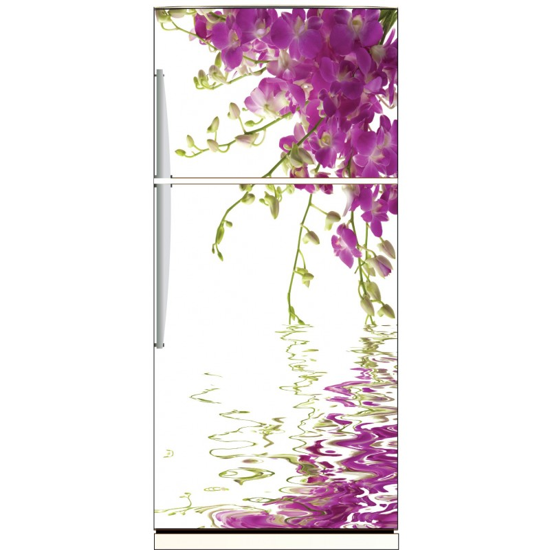 sticker frigo d co cuisine orchid e art d co stickers. Black Bedroom Furniture Sets. Home Design Ideas