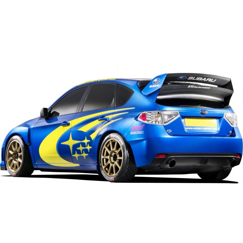 Sticker autocollant voiture sport subaru art d co stickers for Auto collant mural