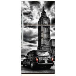 Sticker frigo déco cuisine Taxi Londres