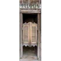 Papier peint porte déco - saloon