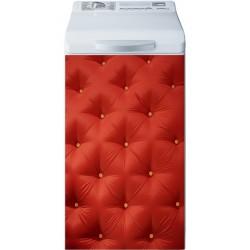 Sticker Lave Linge Capitonné rouge