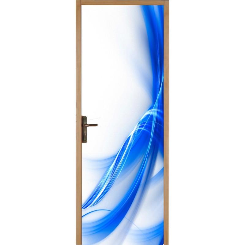 papier peint porte d co bleu design art d co stickers. Black Bedroom Furniture Sets. Home Design Ideas