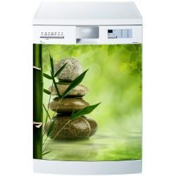 Stickers lave vaisselle ou magnet lave vaisselle Galet Bambou