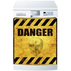 Stickers lave vaisselle ou magnet lave vaisselle Danger