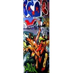 Papier peint porte déco - tag graffiti