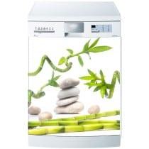 Stickers lave vaisselle ou magnet lave vaisselle Galets Bambous