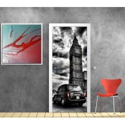 Affiche poster format porte déco Taxi Londres