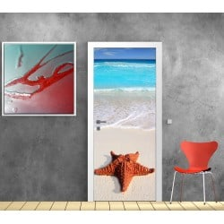 affiche poster format porte d co etoile de mer art d co stickers. Black Bedroom Furniture Sets. Home Design Ideas
