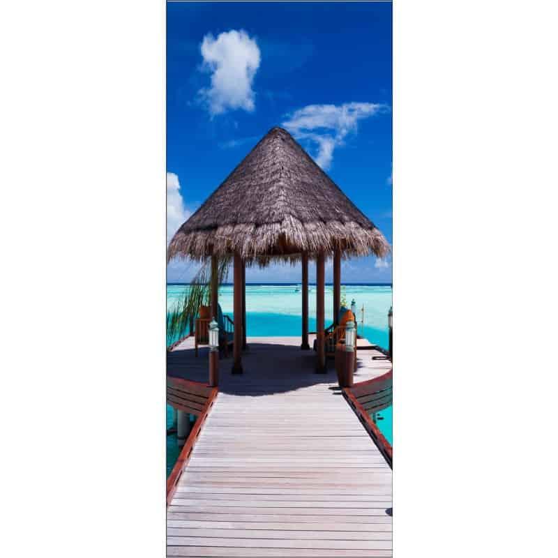 affiche poster format porte les maldives art d co stickers. Black Bedroom Furniture Sets. Home Design Ideas