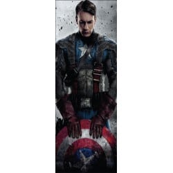 Stickers pour porte enfant Marvel Capitaine América