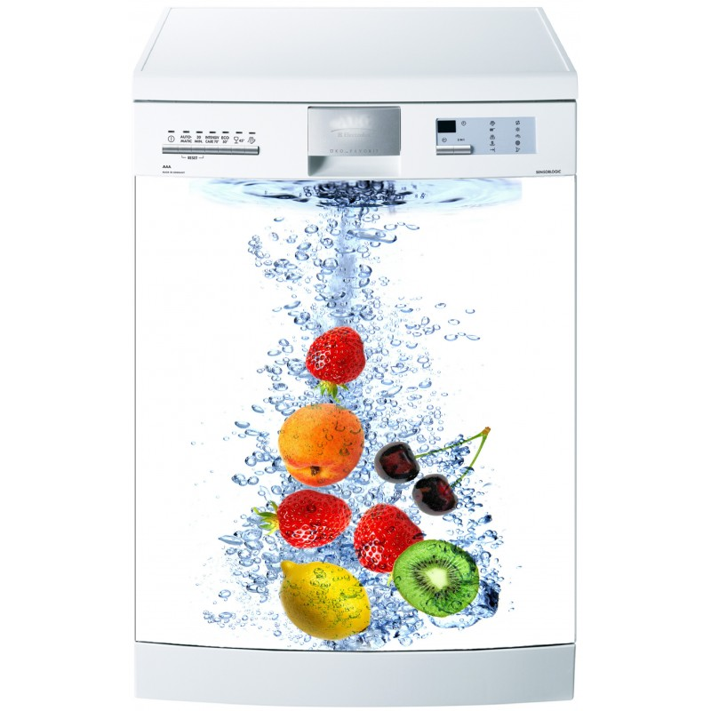 Stickers lave vaisselle ou magnet lave vaisselle fruits for Mon lave vaisselle fuit