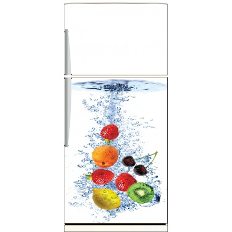 sticker frigo fruits ou sticker magnet frigo art d co stickers. Black Bedroom Furniture Sets. Home Design Ideas