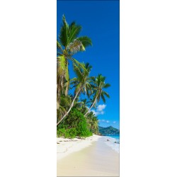 Papier peint porte déco - plage palmier