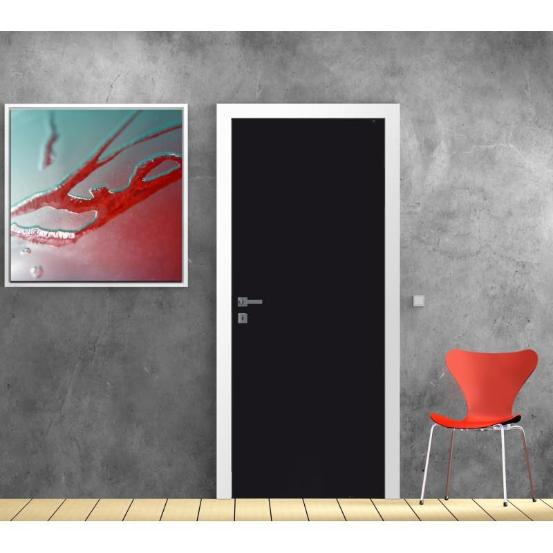 Papier peint porte d co couleur noir art d co stickers for Porte interieure noire