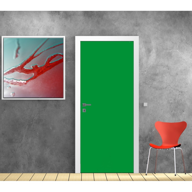 papier peint porte d co couleur vert art d co stickers. Black Bedroom Furniture Sets. Home Design Ideas