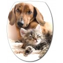 Sticker Abattant de WC Chien Chat