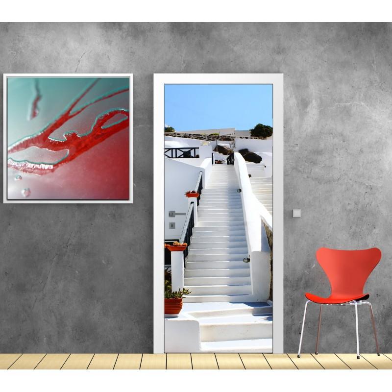 papier peint porte d co mont e escaliers art d co stickers. Black Bedroom Furniture Sets. Home Design Ideas