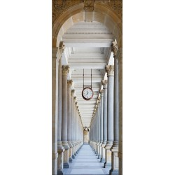 Papier peint porte déco - couloir