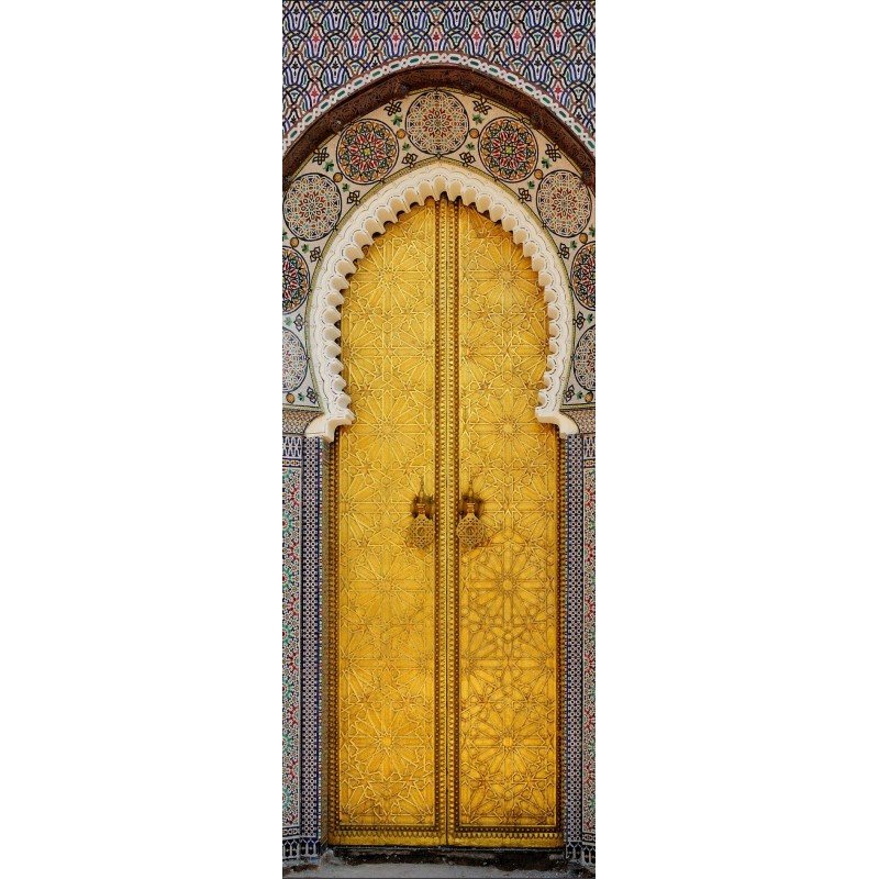 Affiche poster pour porte porte orientale art d co for Porte photo a poser