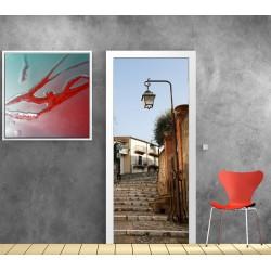 affiche poster pour porte escalier lanterne art d co. Black Bedroom Furniture Sets. Home Design Ideas