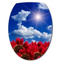 Sticker Abattant de WC Ciel Fleurs