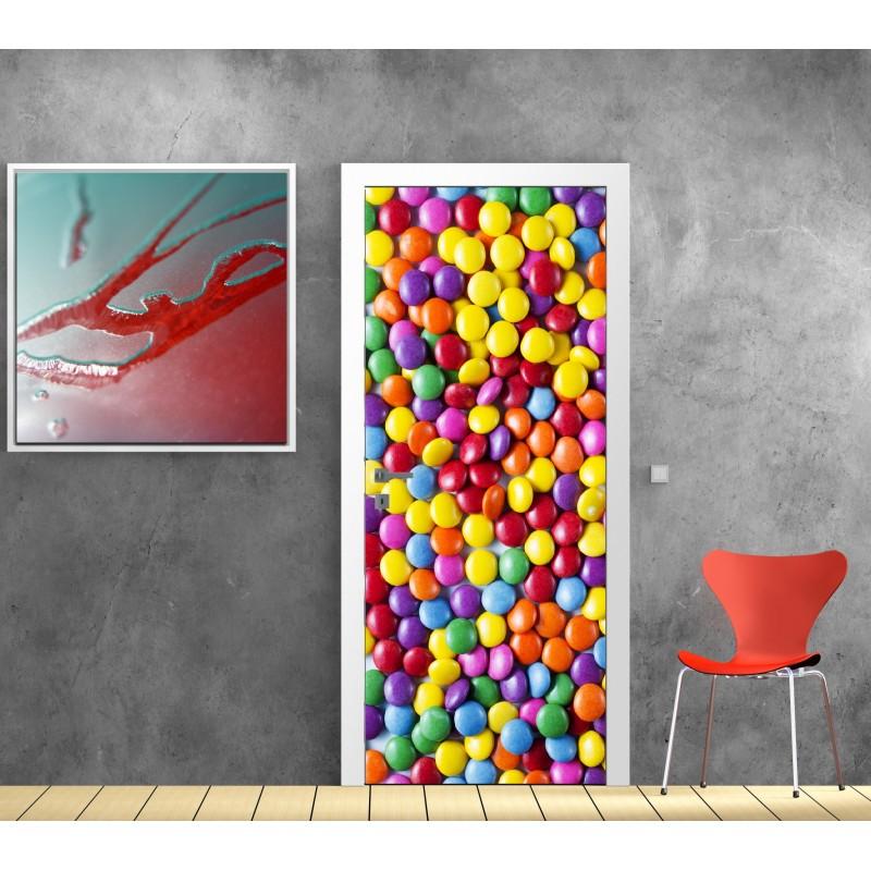 affiche poster pour porte bonbons art d co stickers. Black Bedroom Furniture Sets. Home Design Ideas