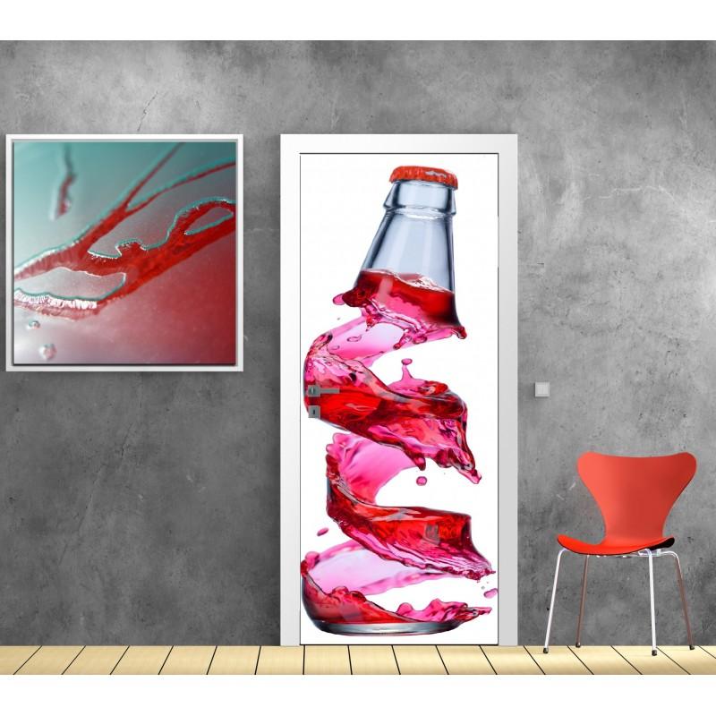 affiche poster pour porte bouteille art d co stickers. Black Bedroom Furniture Sets. Home Design Ideas