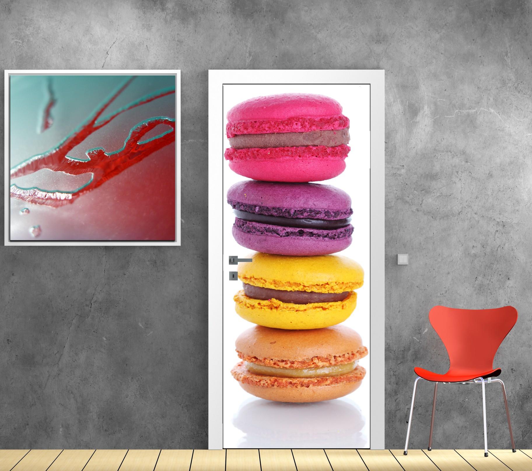 Affiche poster pour porte - Macarons - Art Déco Stickers